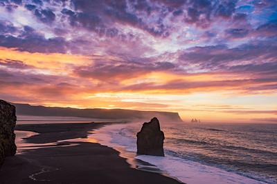 Sunrise at Reynisfjara Beach Iceland