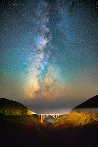 Bixby Creek Bridge Milky Way