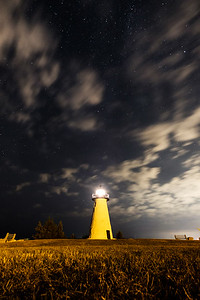 Ned's Point Light at Night