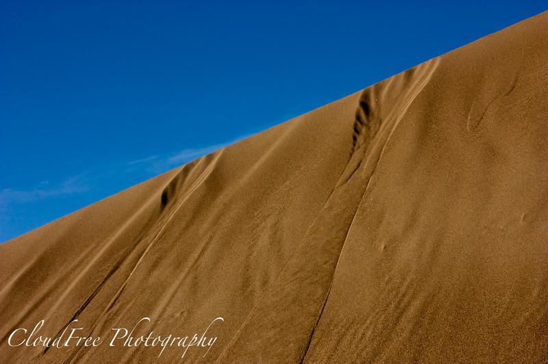 Sand slides<br /> Great Sand Dunes, CO