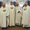Fr. Ed and the jubilarians (Fr. Tony, Bishop Joe and Fr. Tom)