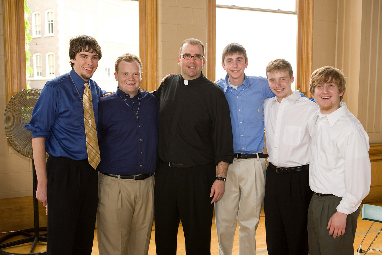 Perhaps the most influential experience of his formation, Bill taught algebra at St. Xavier High School in Cincinnati. In honor of his ordination weekend, former students gathered at the reception to congratulate their teacher. Among these students were Michael Delaney, Chris Eagan, Chet Jechura, Bradley Rentz, and Chris Ziegler. Fr. Murphy is eager to return to St. Xavier following ordination, where he will begin his assignment as special assistant to the president.