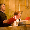"""Jayme C. Stayer, SJ, sang a short Latin verse tu es sacerdos in aeternum """"You are a priest forever."""""""