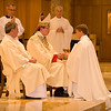 Before the newly ordained concelebrate the Mass for the first time as priests, they receive the bread and wine as symbols of their service to God's People at Eucharistic worship.