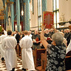 Processional of the Ordination Mass including Fr. Joel Medina's eldest sister, Iracema Crawford (right).