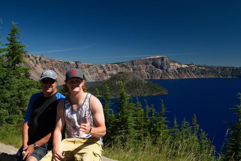 Shaun and Hayden at Crater Lake, Oregon