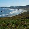 Oregon coast from Cape Blanco lighthouse