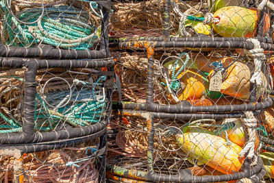 Crab traps at Newport Marina, Yaquina Bay, Oregon.