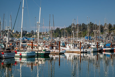 Working boats at Newport Harbor, Yaquina Bay, Oregon.