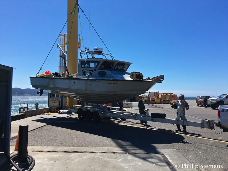 Port Orford harbor crane