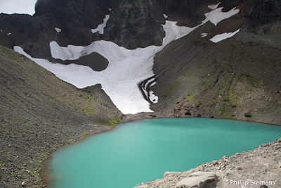 Glacial melt pool at Three Fingered Jack