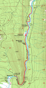 Track for 8 mi hike along the Metolius River