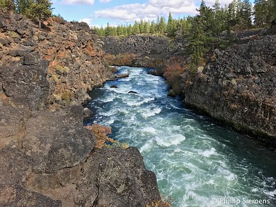 Just below Dillon Falls on the Deschutes River