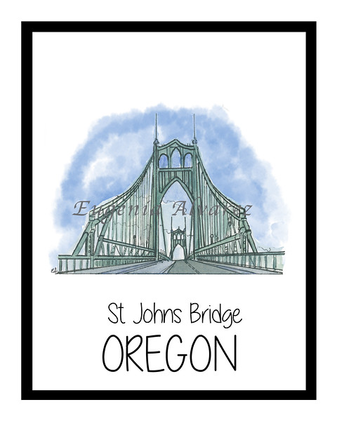 St Johns  Bridge -Portland