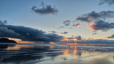 Sunset at Gearhart beach
