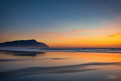 fall sunset at Gearhart beach