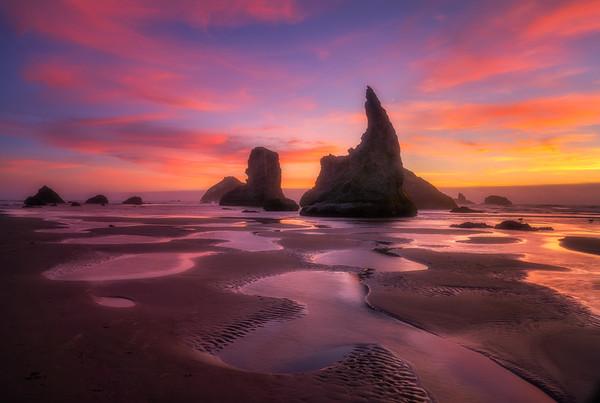 Tide Pools of the Setting Sun