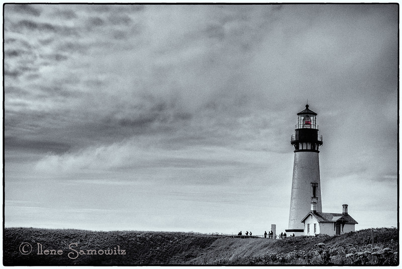 5-27-13 Yaquina Head Lighthouse, Newport, Oregon  This was taken over the weekend.  Photo was converted to B&W using Silver Effex Pro 2.
