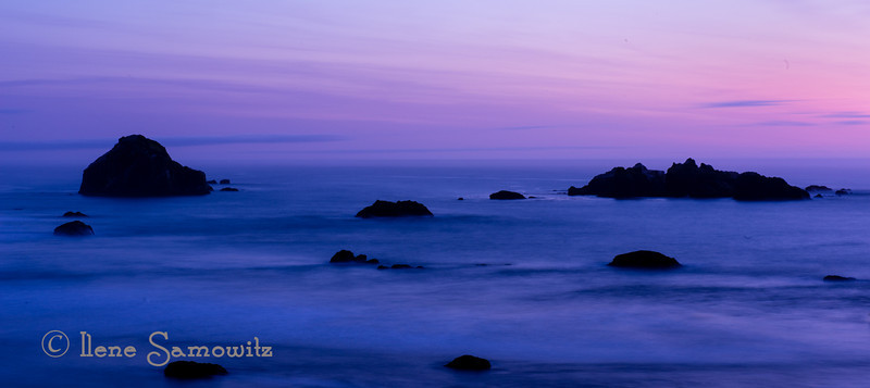 9-2-13 Bandon Sunset - dipping into the archives- 30 sec sunset exposure
