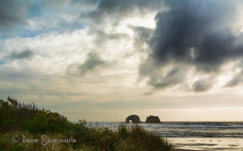 4-8-13 Rockaway Beach, Oregon - this was taken earlier in the early evening about 2 hours before sunset.  The weather on the coast has been stormy.  This was shot with my nikon 1 V1 and processed in LR4., CS6, and Topaz Adjust 5.