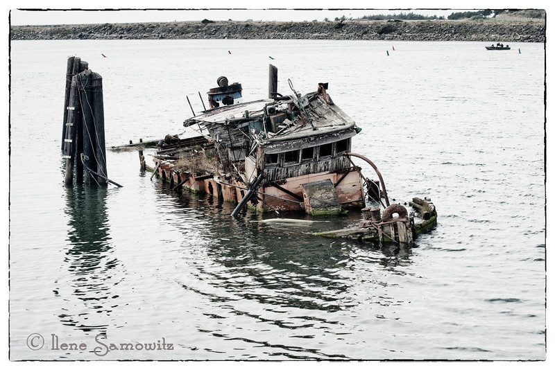 10-27-2012 The Mary D Hume shipwreck in Gold Beach, Oregon.   This is a single image that was post processed in LR 4 and High key in Color Effex 4.<br /> <br /> Constructive  Feedback Welcome.