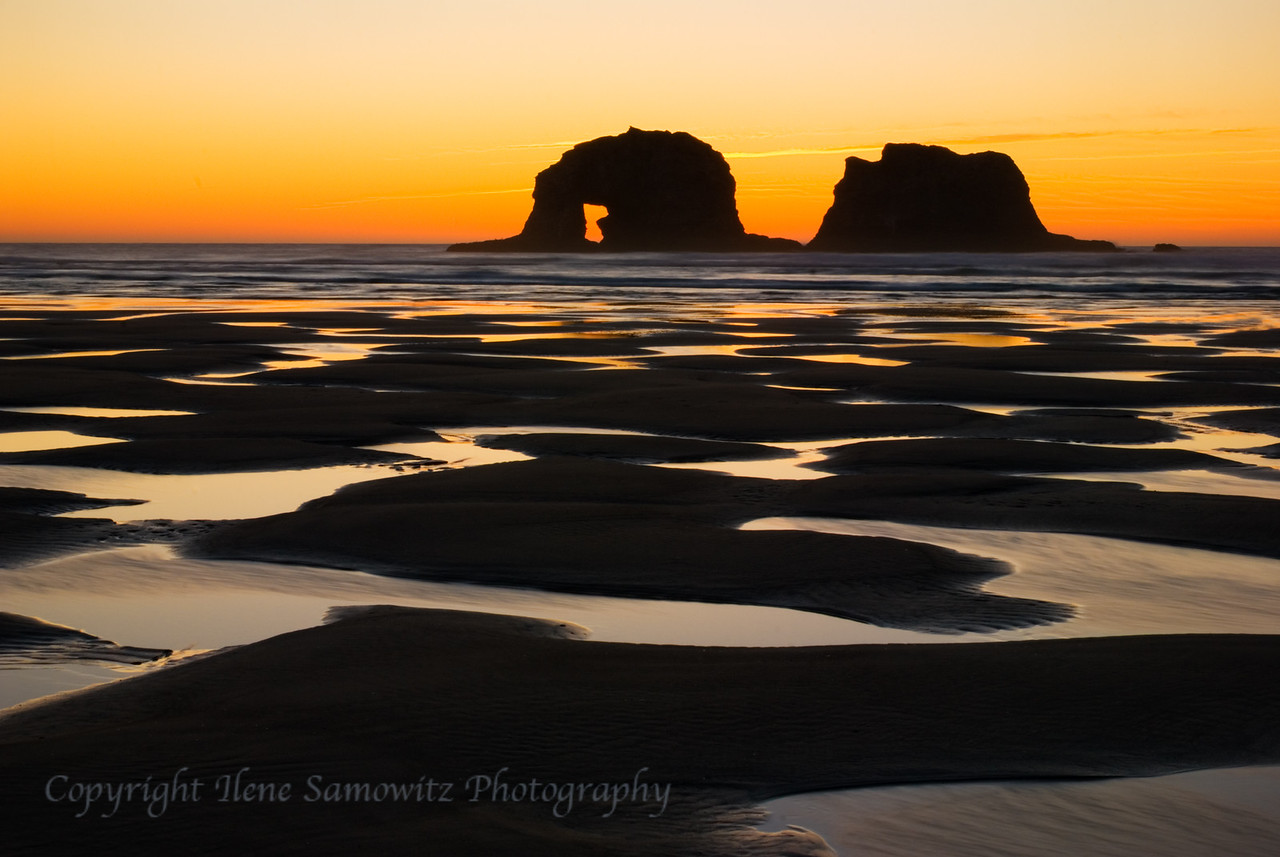 Rockaway Beach Low Tide Sunset, Oregon