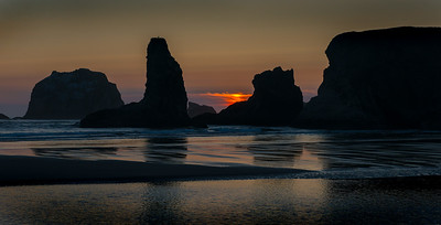 Sunset Over Bandon Sea Stacks