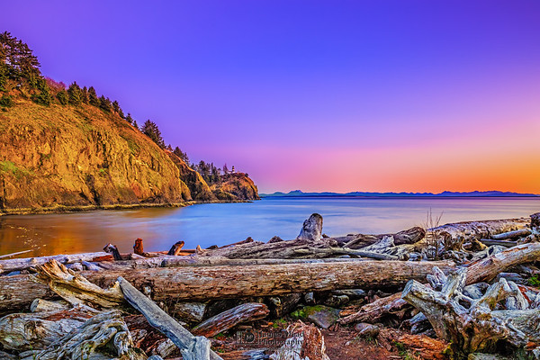 """""""A Beautiful Mess,"""" Sunset over Cape Disappointment,Cape Disappointment State Park, Washington"""