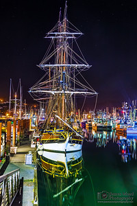 """Pirates of the Night,"" Lady Washington, Newport, Oregon Coast"