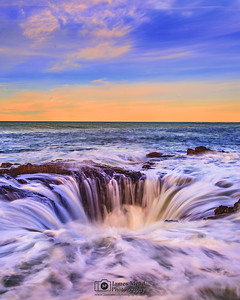 """Chaos Theory,"" Thor's Well, Cape Perpetua, Oregon Coast"