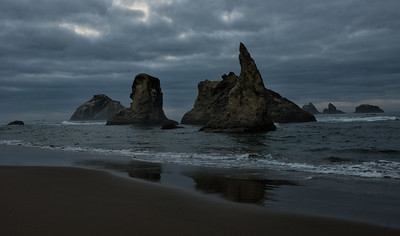 Morning at Bandon beach, Waiting on the sun