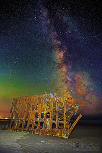 """The Skeleton Ship,"" The Milky Way over the Wreck of the Peter Iredale, Oregon Coast"