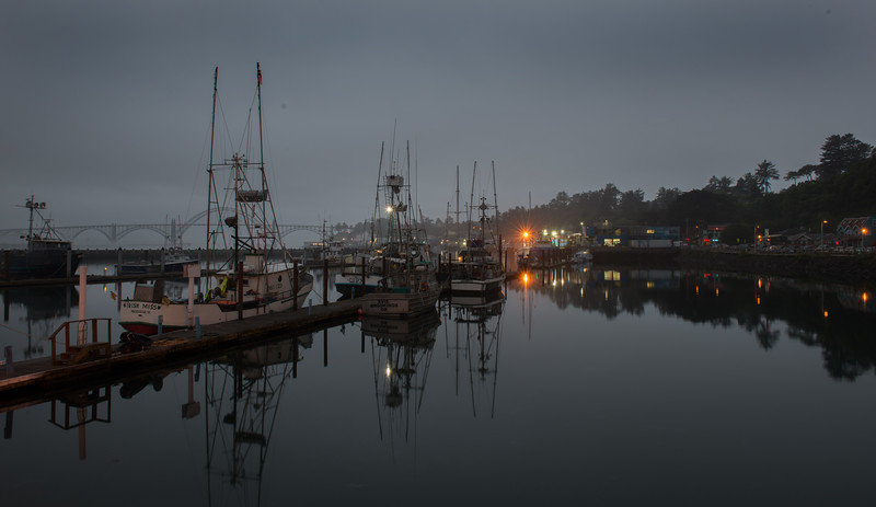 Oregon Coast Fishing Village in the Early Morning