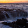 Thor's Well at Sunset