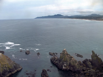 North view from Yaquina Head Lighthouse tower