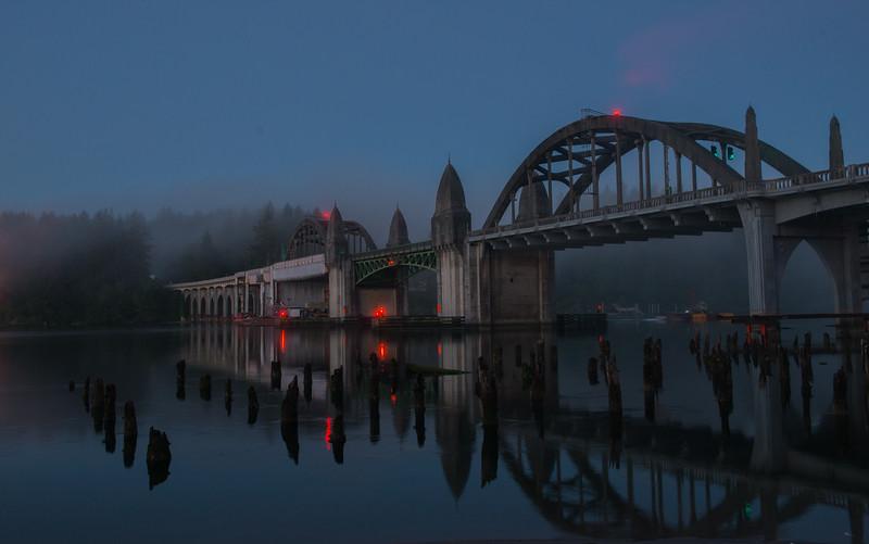 Gothic bridge in Florence, Oregon
