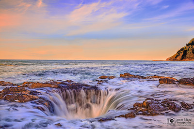 """Ocean's Wrath"" Thor's Well, Cape Perpetua, Oregon Coast"