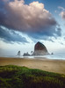 Morning Mist Haystack Rock