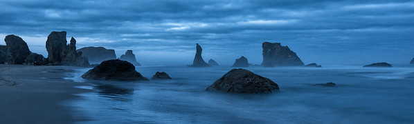 Sea Stack Panarama at Bandon Beach