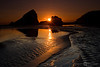 Sunset on Gold Beach - Oregon Coast Tour - Marty Farwell - June 2010