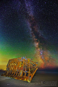 """Starship,"" The Milky Way over the Wreck of the Peter Iredale, Oregon Coast"