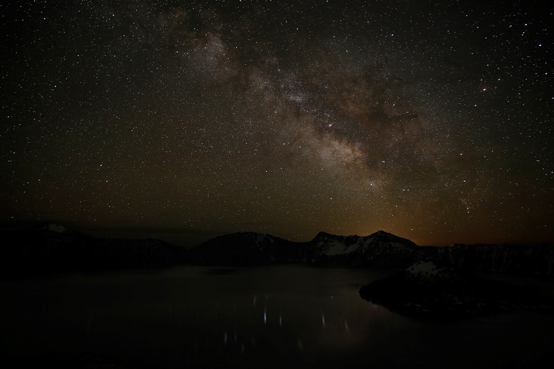 Milky Way over Crater Lake - Crater Lake National Park, Oregon - Emily Jacob - June 2013