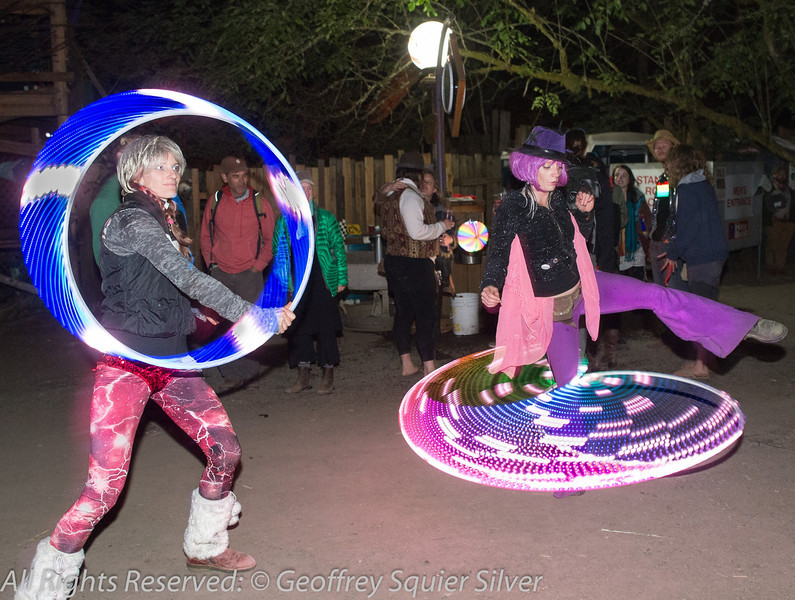 Amy and Mary Hooping with LED hoops