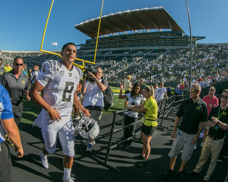 Marcus Mariota, QB with NFL Tennessee Titans