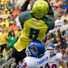 Ducks vs Boise State, one of 3 Darren  Thomas TD throws in Q4