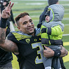 Vernon Adams and son exiting a late Autzen win 2015
