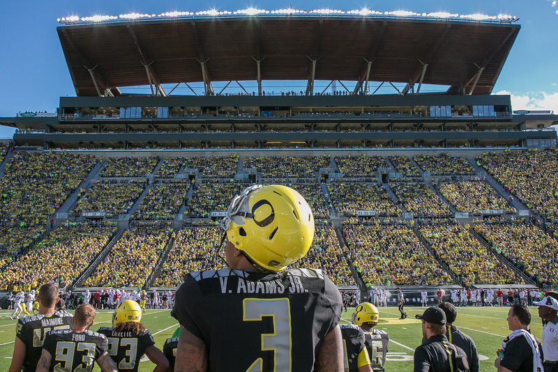 Vernon Adams, now QB with CFL Montreal Allouettes reflecting on his new role with the Ducks