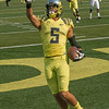 Devon Allen, Olympic hurdler, scoring at Autzen