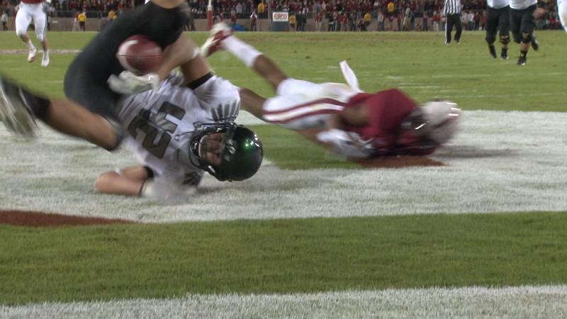 Overturned TD after drop at Stanford
