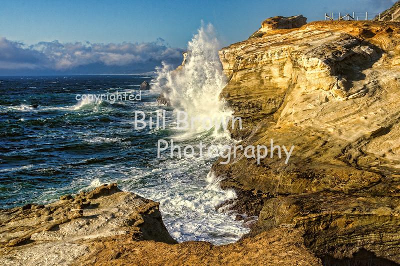 Waves Battering Cape Kiwanda
